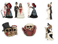 Nemesis Gothic Wedding Day Cake Topper Skeleton Couple Skull Bride Groom Gift
