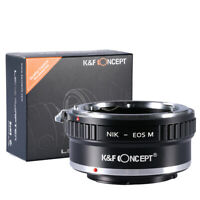 K&F Concept AI-EOS M Lens Adapter Ring for Nikon F Lens to Canon EOS M Cameras