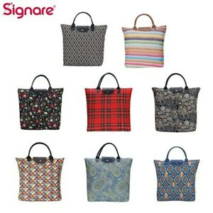 Foldable Shopping Bag Reusable Grocery Tote in Fashion Tapestry Design
