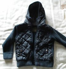 Kids Navy Blue Hooded Cardigan By Next Size 3 Years