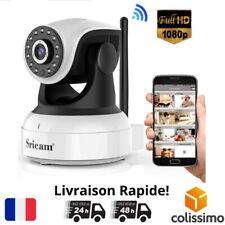 Camera Video de Surveillance Interieur Sans Fil WIFI 1080P HD Nuit Maison 360°