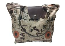Womens Girls Washable Tote Bag, Hand Bag, Beach Bag with Zipper closure