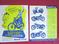TERROT : prospectus gamme 1955 : scooter,125,250 et 500 et cyclo LUTIN