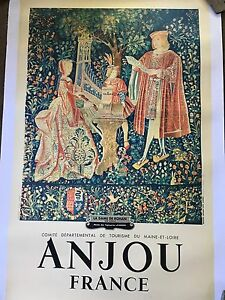 Vintage Original French Travel Poster Anjou