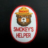 """Vintage """"SMOKEY'S HELPER"""" SMOKEY THE BEAR Genuine Forest Fire Prevention Patch"""