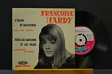 """EP 7"""" FRANCOISE HARDY - J'SUIS D'ACCORD - TOUS LES GARCOONS ET LES FILLES - NM"""