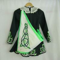 CELTIC//Lyrical////ST Patrick/'s Day DELUXE SHORT Irish dress-nylon sparkle sleeves