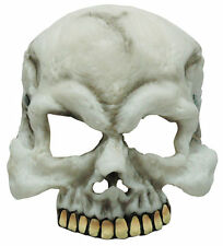 Half Face Skull Mask Halloween Horror Fancy Dress Fits Children Kids & Adults