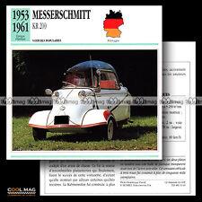 #011.16 MESSERSCHMITT KR 200 Kabinenroller 1953-1961 Fiche Auto Classic Car card