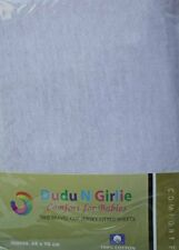 Dudu N Girlie Thick Cotton Travel Cot Fitted Sheets, 65 cm x 95 cm, 2-Piece, Whi