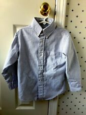 Arrow Oxford Blue White University Stripe Button Up Down Dress Shirt Top Size 6