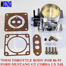 Billet 75mm High Flow Throttle Body For 86-93 Ford Mustang GT Cobra LX  5.0L KJ