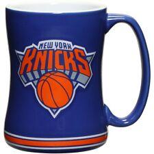 NY New York Knicks Coffee Mug Relief Sculpted Team Color Logo 14 oz New NBA Blue