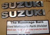 FUEL GAS TANK BADGES Emblems ----- 1980 SUZUKI GS450E gs450ET