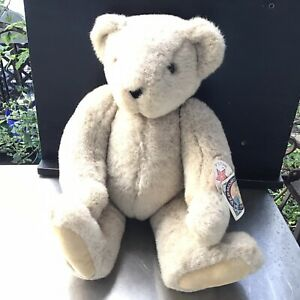 """VTG Jointed The VERMONT TEDDY BEAR Plush Beige Jointed BEAR 17"""" Posable"""