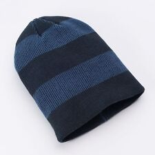 Urban Pipeline Men One Size Multi Blue Stripe Ribbed Knit Beanie NEW $20