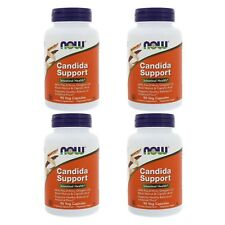 4X NOW FOODS CANDIDA CARE HEALTHY HERBAL SUPPORT DAILY BODY DIETARY SUPPLEMENT