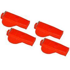 4 x Whistle Referee Coach Sports School Football Rugby Dog Training - Orange