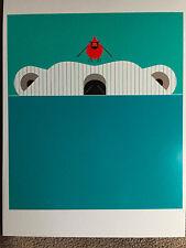 CHARLEY CHARLES HARPER  Scary Scenario  New Art print   Cardinal Polar Bear
