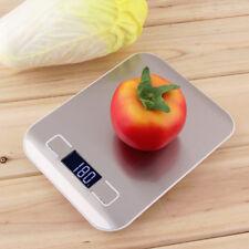LCD Digital Cocina Comida BALANZAS acero inoxidable Hasta 1g-5000g GB
