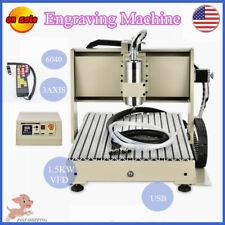 3 Axis Cnc6040 Router Engraver Milling Machine Desktop Engraving Drillingrc Vfd