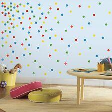 CONFETTI Polka DOTS HuGe LoT 180 Wall Decals Room Decor Stickers Green Blue PRI
