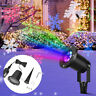 Christmas Snowflake LED Laser Projector Light Moving Snow Outdoor Garden Lamp