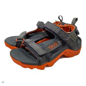 Teva Tanza boys sandal Gray with Orange Accent Comfort Hiking Sport Shoe size 12