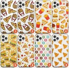 Fast Food Pattern Slim Phone Case for iPhone | Fast Food Pattern Clear Transpare