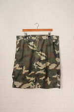Vintage Lee Cooper Camuflaje Pantalones Cortos Verde (W38)