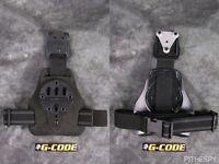 Black Fuzz G-Code Mule ISS Drop Leg Holster Carry Platform With RTI Hanger