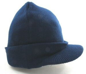 NEW Dickies Men's Core Billed Knit Radar w/ Cuff Beanie   Navy   One Size