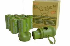 20 Rolls (200 Bags) Compostable Pet Dog / Cat DooDoo Bags, Refill Waste Pickup
