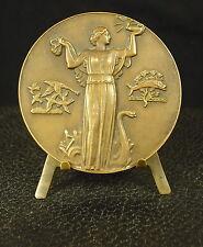 Médaille figure divine Déesse Goddess art nouveau  par Jean Vernon Medal 铜牌