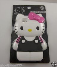 for iphone 5 rubber oversized phone case Hello Kitty black pink fits i phone 5