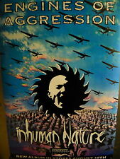 Engines Of Aggression Large Rare Inhuman Nature Promo Poster mint condition