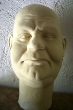 OLIVER HARDY Latex Head from MOVIELAND WAX MUSEUM MOLD Sculpted by Pat Newman!