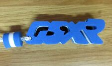 GSXR Word Foam Letter Blue / White Key Fob Ring Clearance
