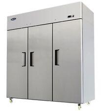 ATOSA MBF8003 TOP MOUNT THREE DOOR FREEZER STAINLESS STEEL W/CASTERS
