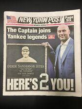 DEREK JETER NY POST NEWSPAPER YANKEES JETER NIGHT NUMBER RETIREMENT 5/15/17