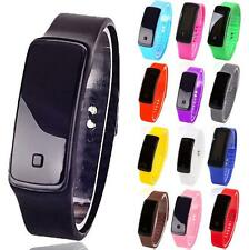 Fashion Digital LED Sports Watch Unisex Silicone Band Wrist Watches Men Women