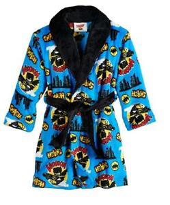 Toddler Boys Justice League Batman Belted Fleece Robe Bathrobe  Size 3T NEW