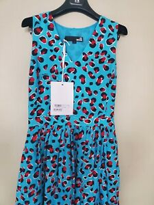 New Love Moschino Women's Dress,size 42 blue red multi