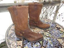 Women's Brown Leather Harness Boots / Made in U.S.A. / 7 1/2 M / Pre-owned