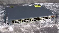 * CISCO WS-C3750E-48TD-S V03 48-PORT GIGABIT NETWORK SWITCH