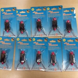 Set of 10 CLEARANCE Eco-Friendly Pink Solar Bugs/Stocking Filler/Christmas