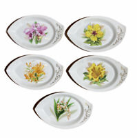 VIntage HINODE Set of Five Trinket Dish Bowl Oyster Shape Japan Hand Painted