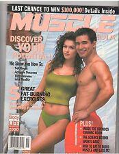MUSCLE MEDIA bodybuilding magazine/Mario Lopez+Ashley Cafagna 9-00 #80