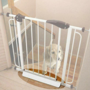 Children Gate Fence Stopper Pet Safety Guardrail Extra Wide Lock Stairway Boards