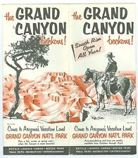 1954 Grand Canyon National Park Tourist Map & Program, 16x18 Inches